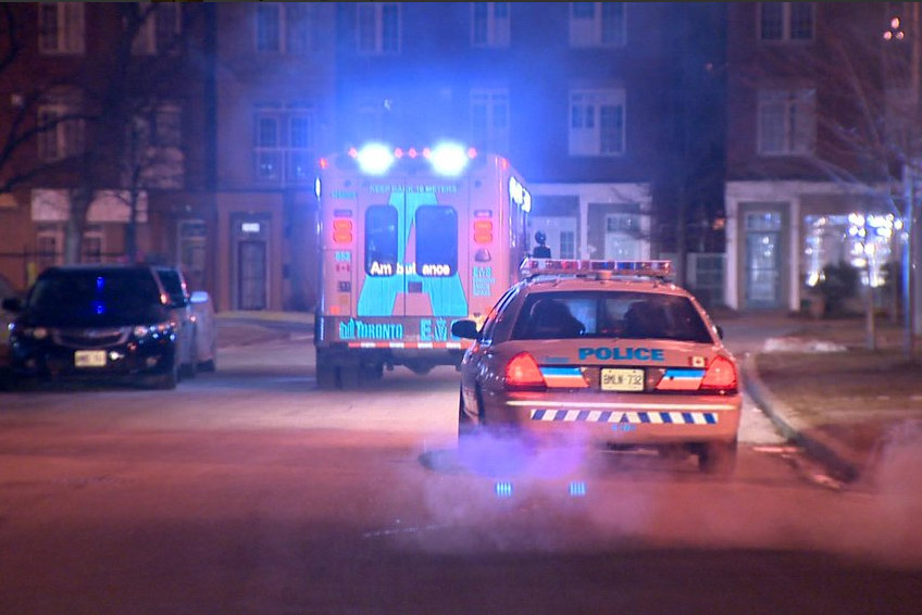Five people were taken to hospital as a precaution.