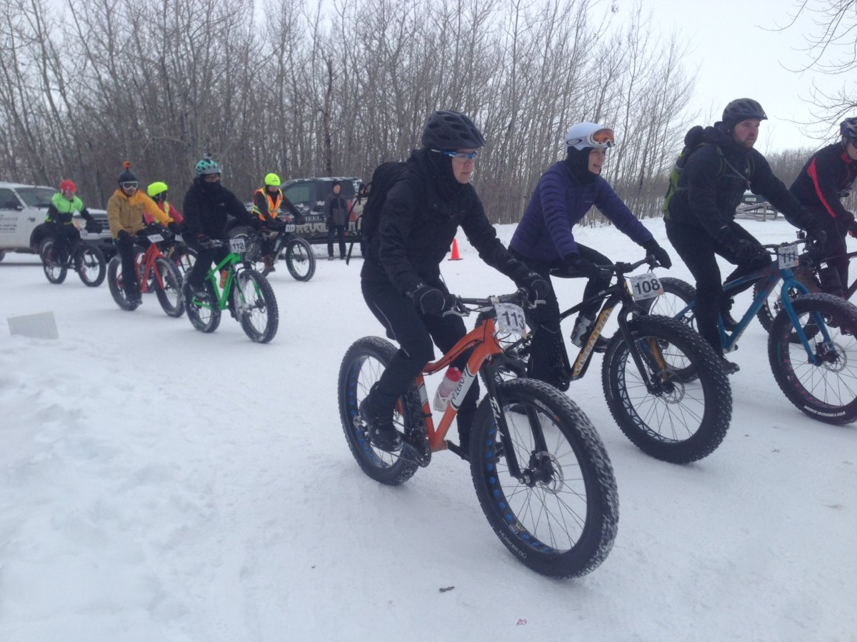 Fat bike enthusiasts hit the trails at Fort Whyte Alive for an endurance race.