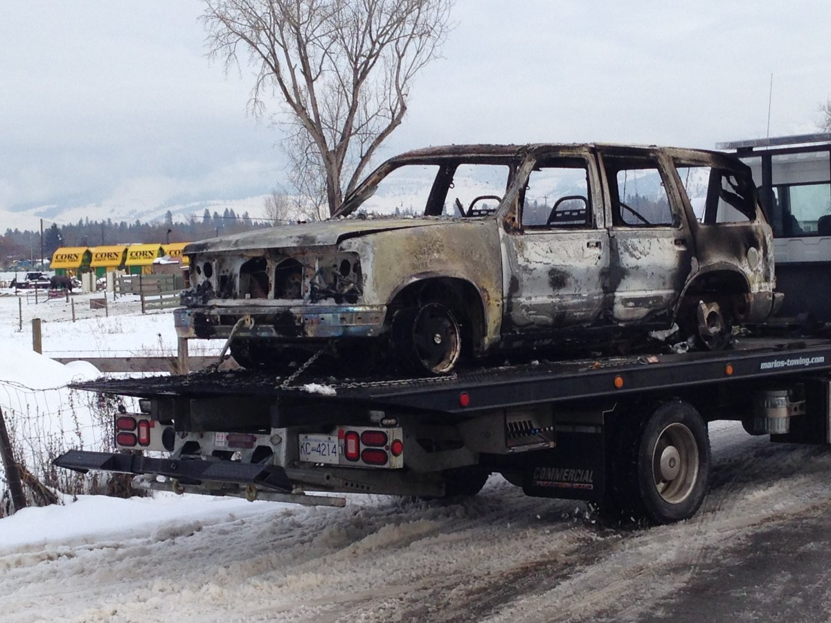 Kelowna RCMP looking for owner of fire destroyed vehicle - image