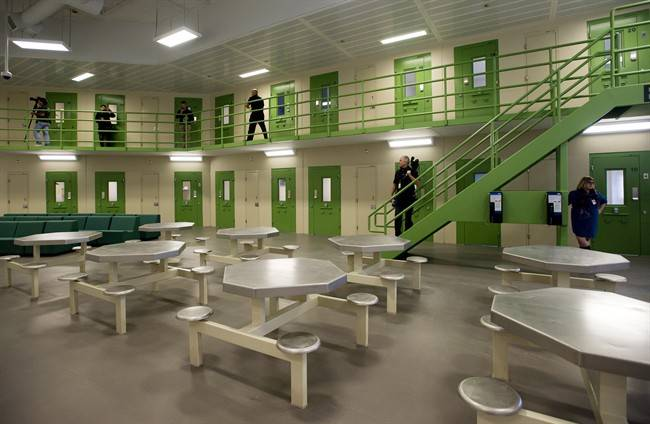 The general inmate facility is shown during a media tour of the Toronto South Detention Centre in Toronto on Thursday, Oct. 3, 2013.