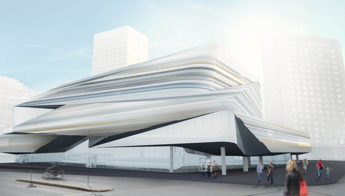 Proposed drawing of Stanley A. Milner Library revitalization.