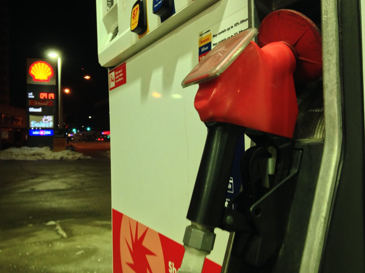 Price jumped to  91.9 cents a litre at Shell gas station on Portage Avenue and Maryland Street Wednesday morning.