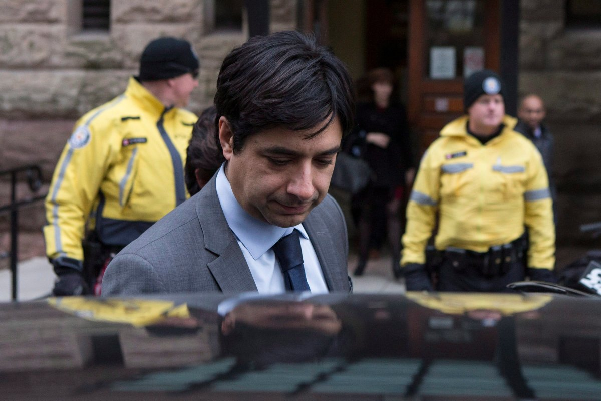 Former CBC radio host Jian Ghomeshi leaves a Toronto court after day four of his trial on Friday, February 5, 2016. Ghomeshi's trial has shone a spotlight on the way Canada handles sexual assault. Ghomeshi has denied all charges against him.