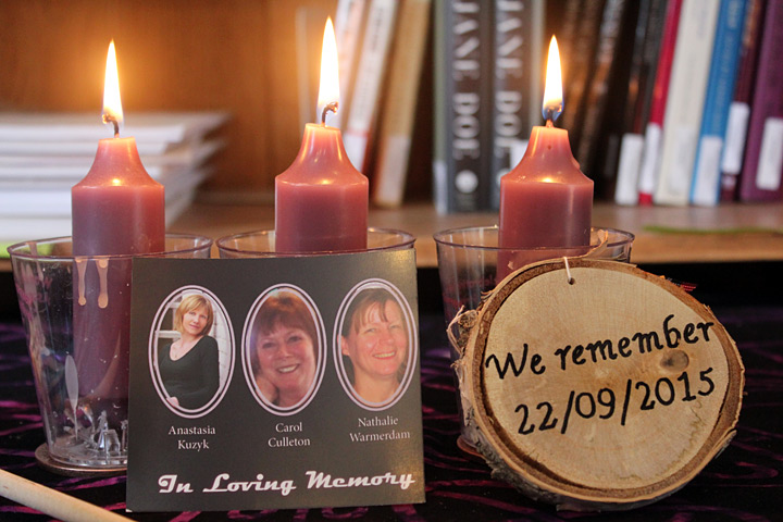 A small memorial at the Women's Sexual Assault Centre of Renfrew County