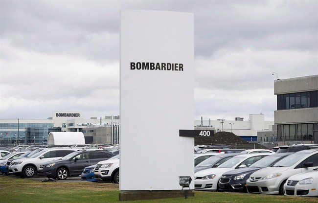 A Bombardier plant is shown in Montreal, Thursday, October 29, 2015.