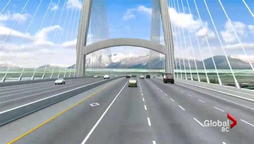 A rendering of the proposed Massey Bridge.