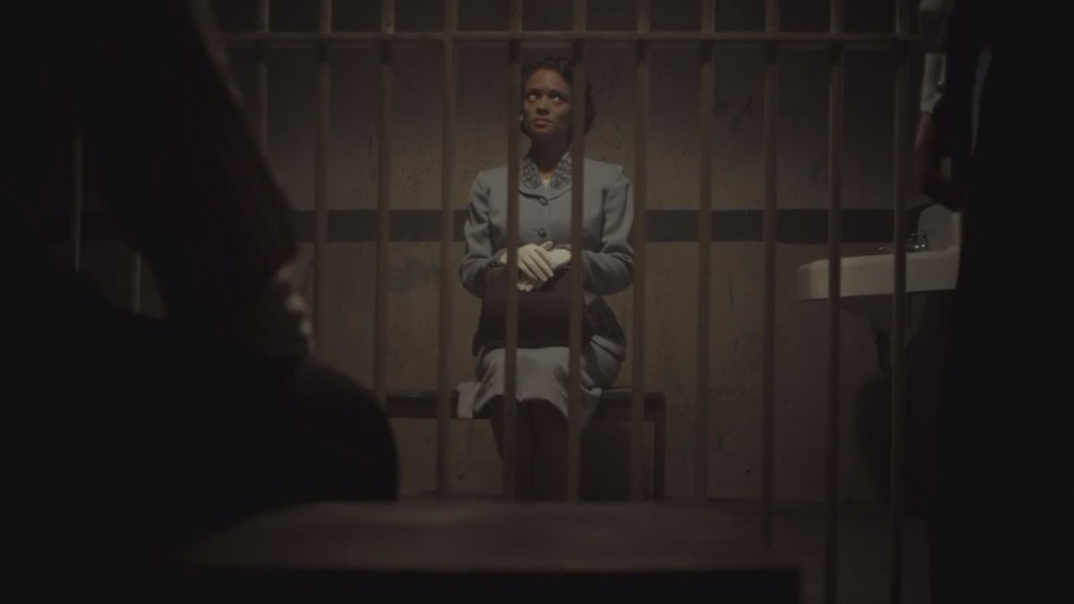 A still frame from the Heritage Minute featuring Viola Desmond.