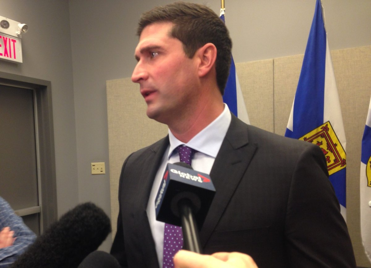 Transportation Minister Geoff MacLellan answers questions about the new Yarmouth to Portland ferry on Feb. 4, 2016.