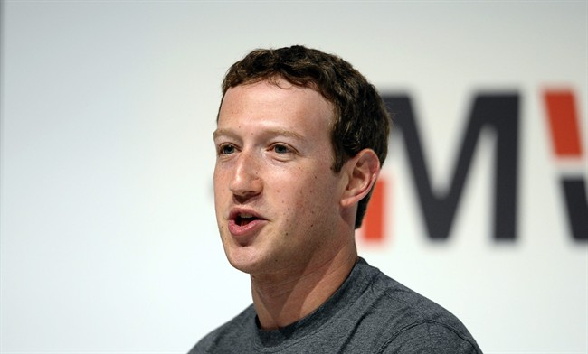 Facebook CEO Mark Zuckerberg speaks during a conference at the Mobile World Congress, the world's largest mobile phone trade show in Barcelona, Spain.