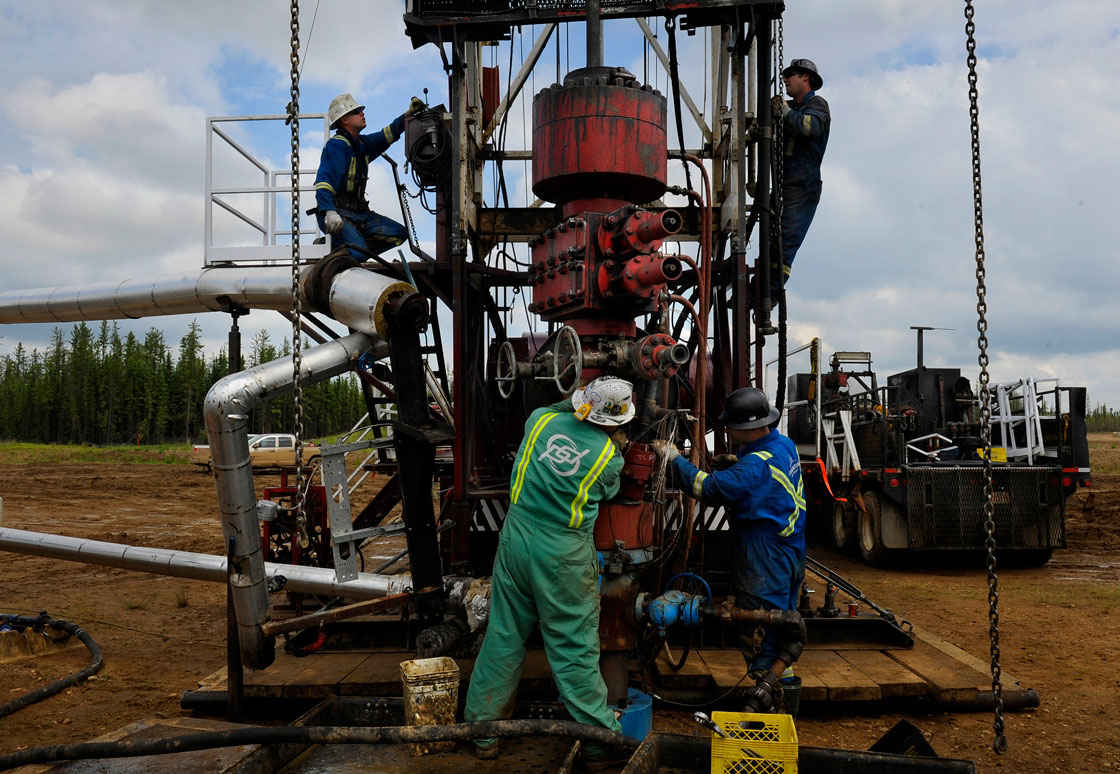 Saskatchewan Premier Brad Wall says plenty of jobs could be created by redeploying laid-off oil and gas workers to clean up defunct wells.