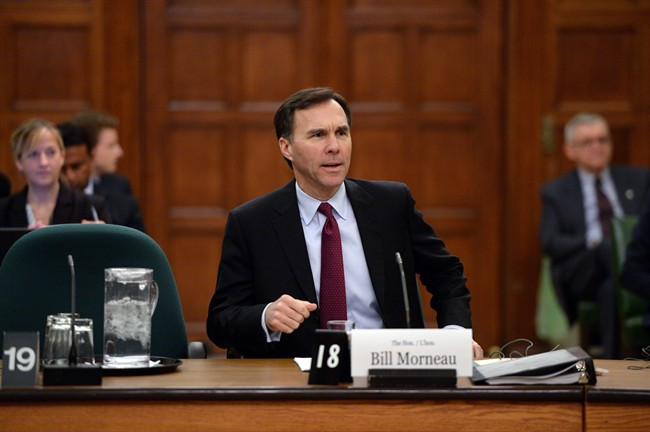 Finance Minister Bill Morneau appears at Commons committee for pre-budget consultations on Parliament Hill in Ottawa on Tuesday, Feb. 23, 2016.