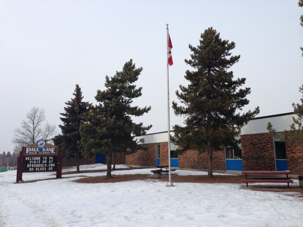 Paul Kane High School in St. Albert.