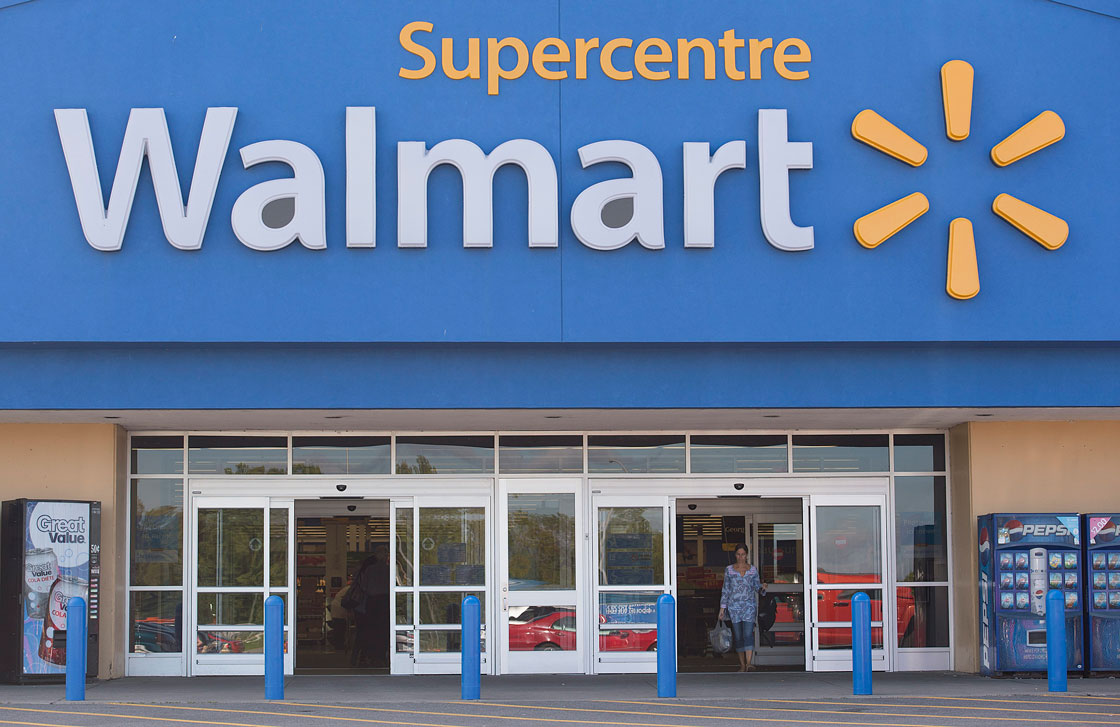 Both traffic and average basket size are up at Walmart Canada.