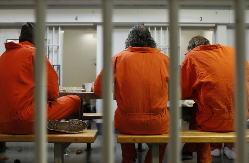 Jail inmates are seen in this file image.