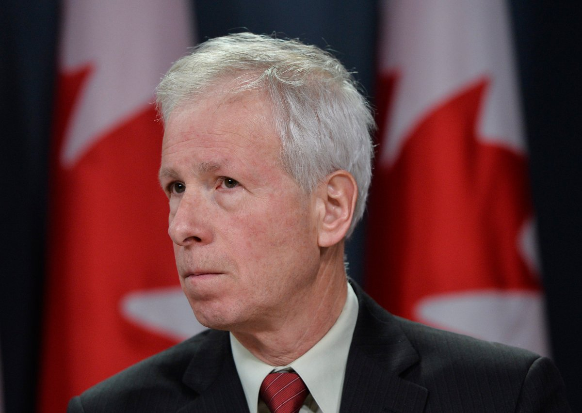 Minister of Foreign Affairs Stephane Dion speaks to media during a press conference in Ottawa on Monday, February 8, 2016.