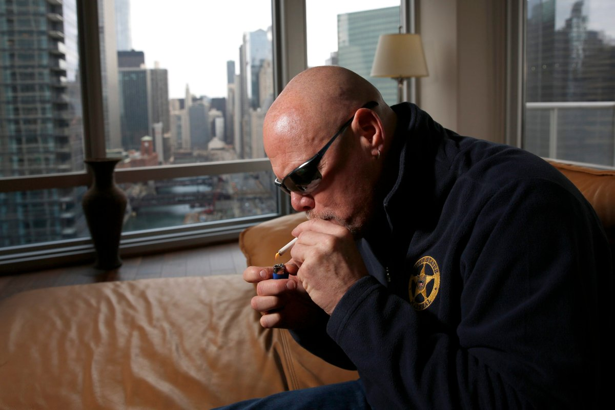 """Former Chicago Bears quarterback Jim McMahons smokes medical marijuana in Chicago. McMahon calls himself """"old school,"""" including his use of marijuana both during and after his career. Yet McMahon's stab at self-medicating could turn out to be ahead of its time."""