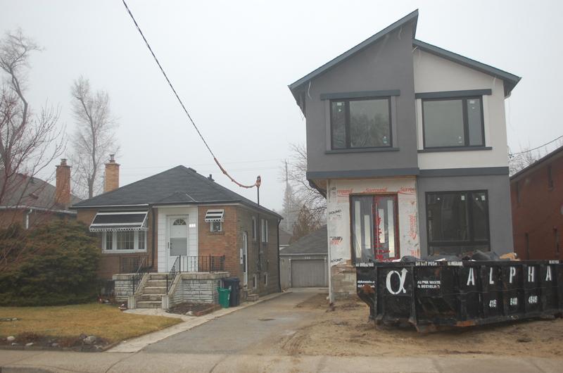 In Toronto's East York neighbourhood, modest postwar houses are giving way to much bigger ones.