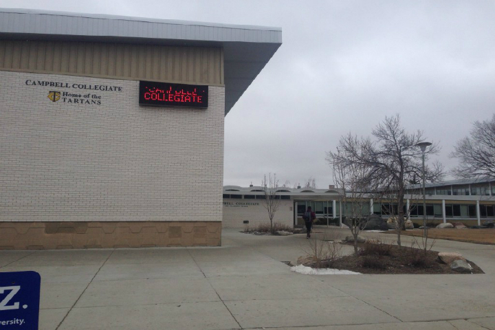 """Campbell Collegiate was one of the south-end schools that briefly entered """"Secure-the-Building"""" mode after a suspicious person was reported."""