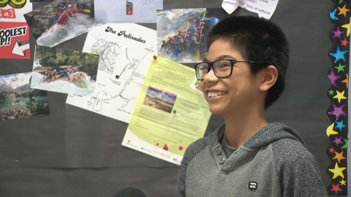 Dan Pantaleon and his classmates made a video about one of Canada's national parks, in hopes of winning a national contest to visit Jasper National Park.