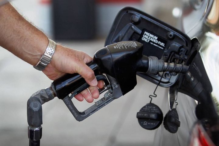 Gas prices were down 13 per cent last month compared to what commuters were paying last February.