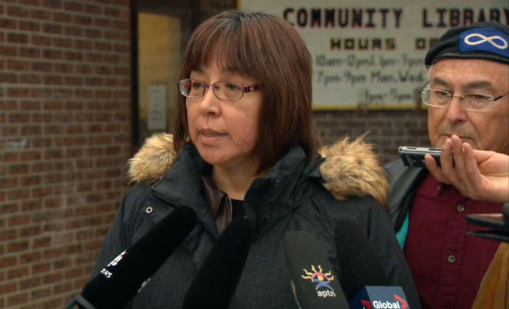 Georgina Jolibois says people in the Dene community are showing signs of post-traumatic stress disorder.