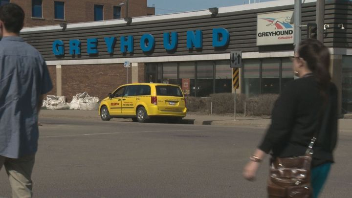 The Greyhound station in downtown Edmonton.