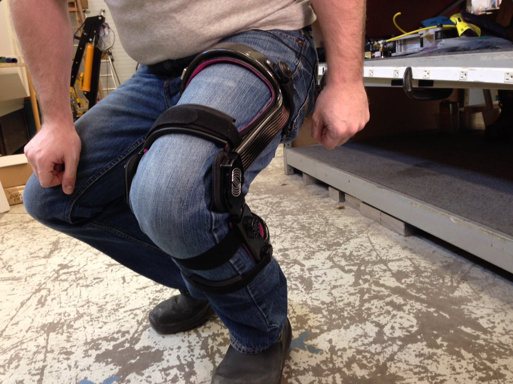 This knee brace, designed by Spring Loaded Technology in Dartmouth, is now used by the Canadian military.