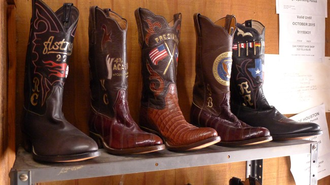 FILE: A selection of cowboy boots.