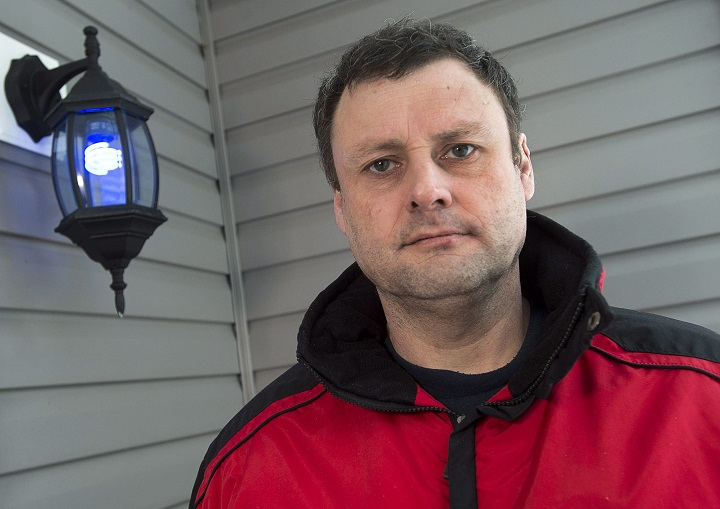 Russell Laight visits friends in Middle Sackville, N.S. on Friday, March 11, 2016. The British man was jailed six days by Canadian border agents in Newfoundland.
