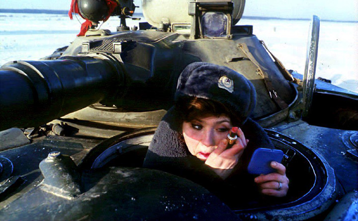 A woman in a tank