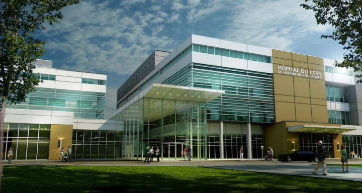 FILE - A photo of what the proposed hospital may look like.