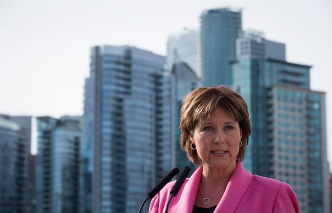 Premier Christy Clark says she's not about to overhaul British Columbia's political funding rules despite Opposition moves to ban corporate and union contributions and limit individual contributions.