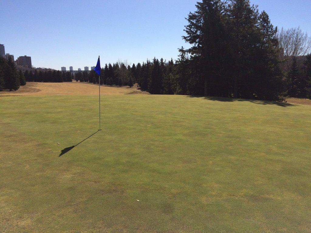 Victoria golf course in Edmonton's river valley. April 1, 2016.