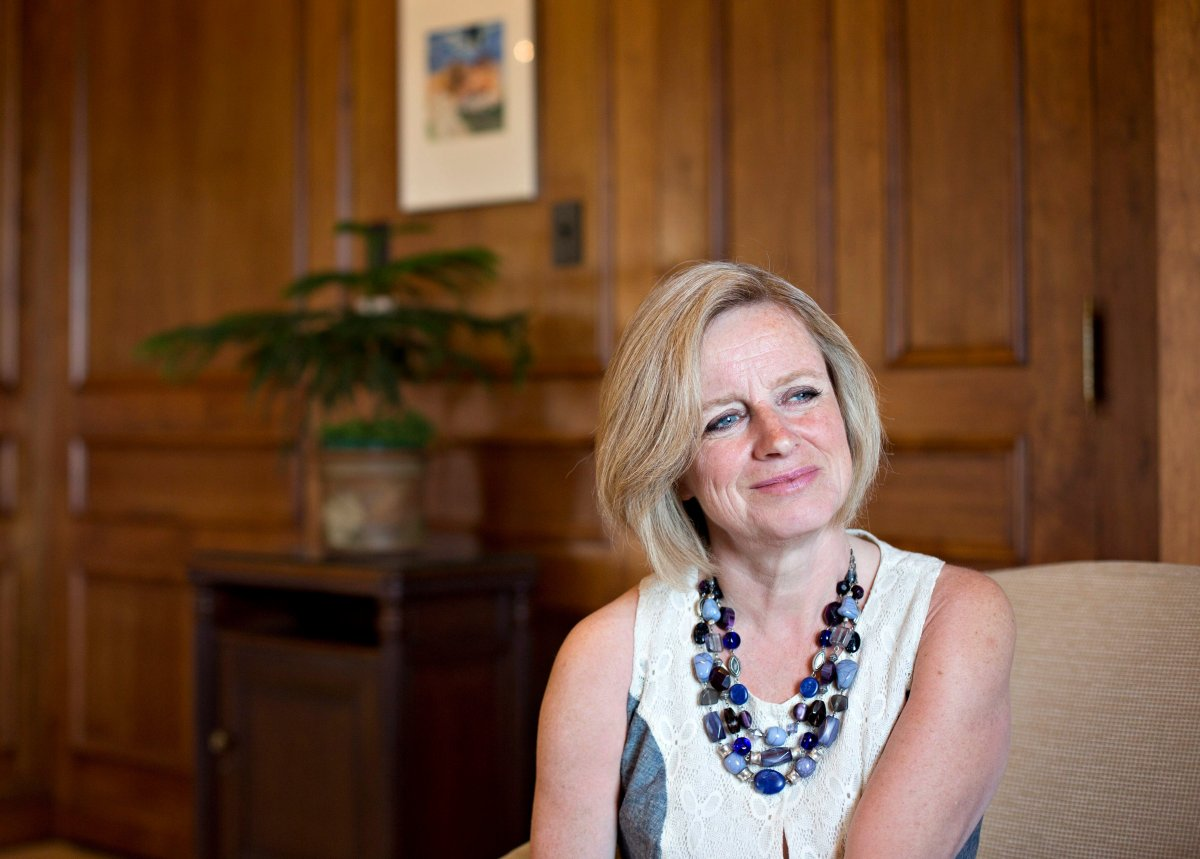 Alberta Premier Rachel Notley pictured in Edmonton Alta, on Wednesday April 20, 2016. Notley says she is going to Washington, D.C. mainly to spread the word on her government's climate-change plan.