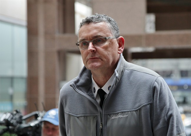 Supt. David (Mark) Fenton is seen outside police headquarters in Toronto on Wednesday, April 13, 2016. Complainants told his misconduct sentencing hearing he should be fired for ordering indiscriminate mass arrests during the tumultuous G20 summit six years ago. THE CANADIAN PRESS/Colin Perkel.