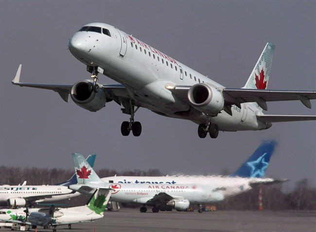 An Air Canada jet takes off from Halifax Stanfield International Airport.