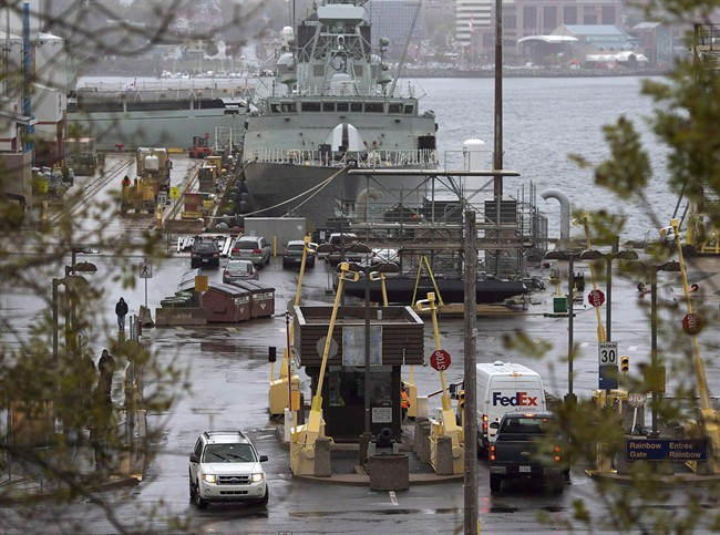 Canadian Forces Base Halifax is pictured.