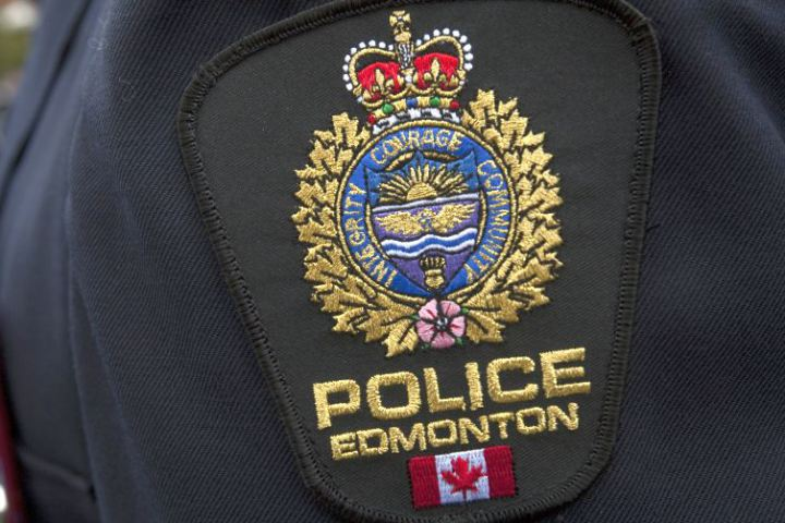 File photo of an Edmonton police badge.