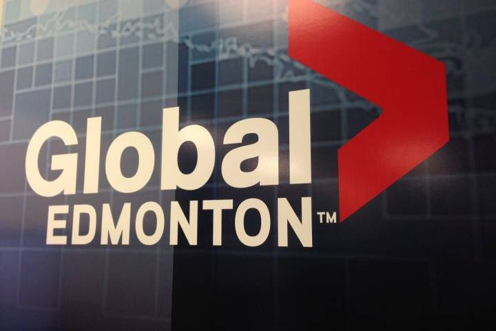 A file photo of the Global Edmonton logo is shown.