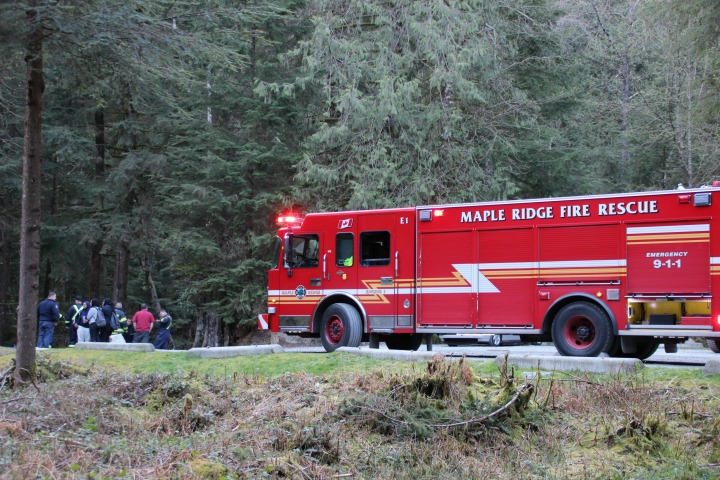 One woman is in hospital with serious injuries after a dramatic water rescue in Golden Ears Provincial Park on Saturday night.