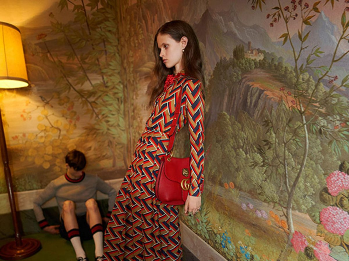"This Gucci ad has been banned in Britain for featuring an image of an ""unhealthily thin"" model."