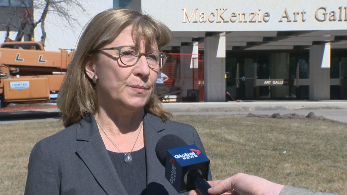 Suzanne Posyniak, , a CUPE national representative, said workers at the MacKenzie Art Gallery have voted 100 per cent in favour of a strike mandate.