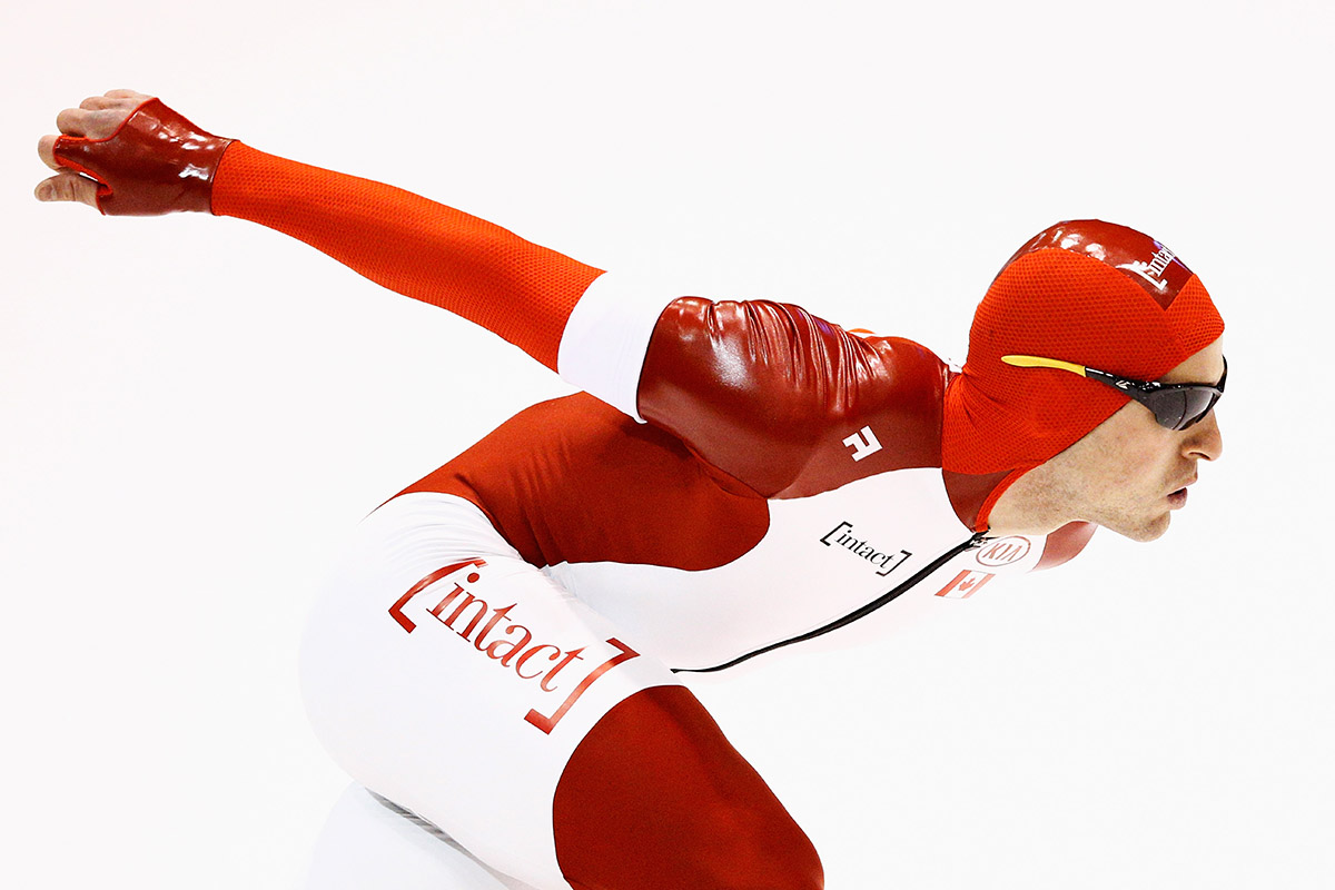 Denny Morrison of Canada competes in the Mens 1500m race during day 2 of the ISU World Single Distances Speed Skating Championships held at Thialf Ice Arena on February 13, 2015 in Heerenveen, Netherlands.