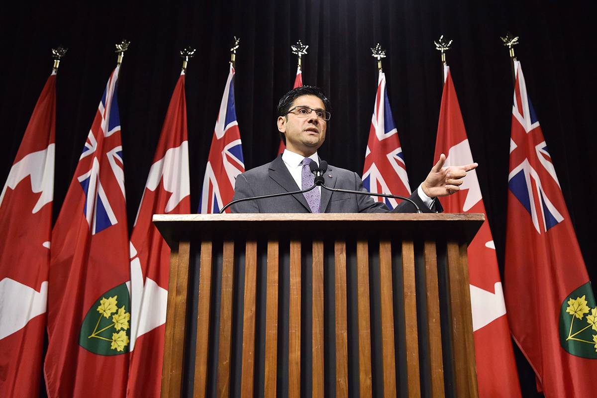 Yasir Naqvi, Ontario's Attorney General, appears in a file photo at Queen's Park.