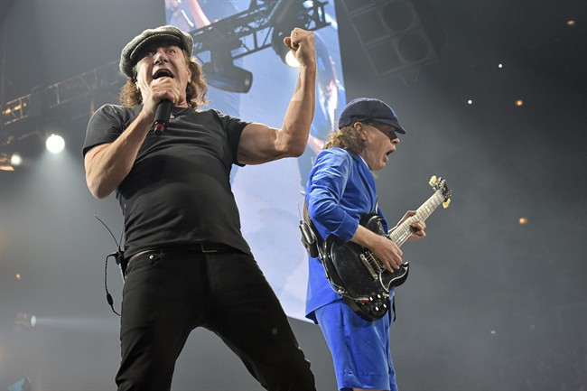 AC/DC performing in Chicago in 2016.