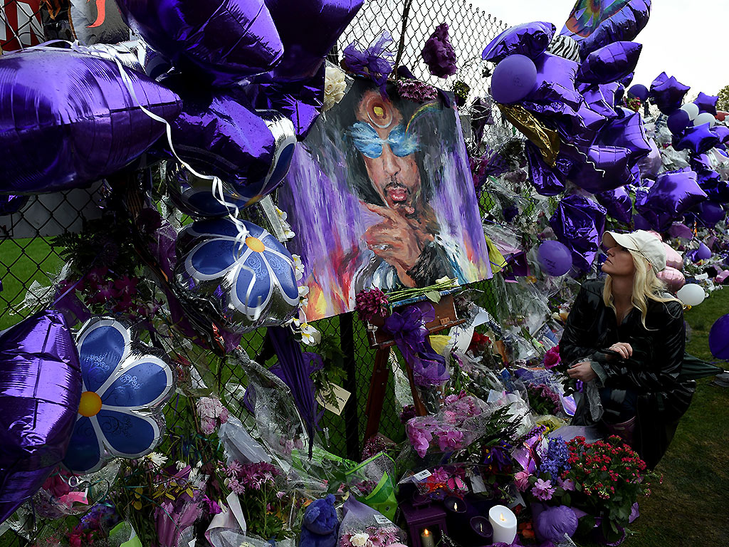 Prince memorial outside his Paisley Park home