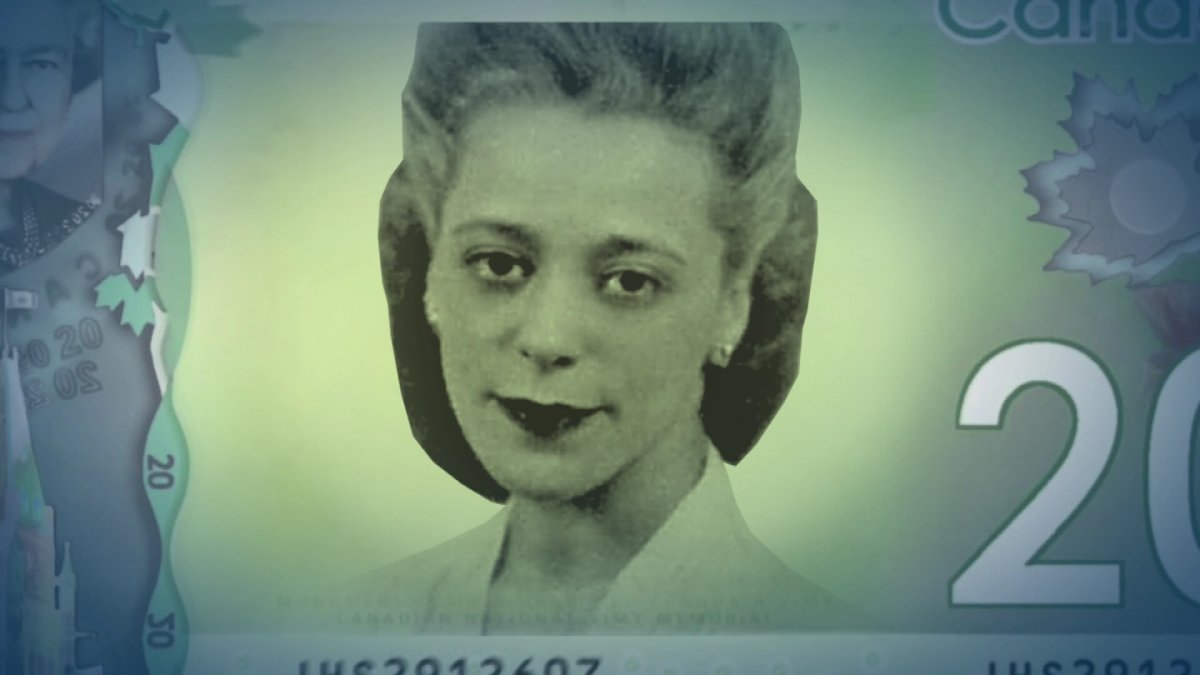 A mock up of what a bill with Viola Desmond on it would look like.