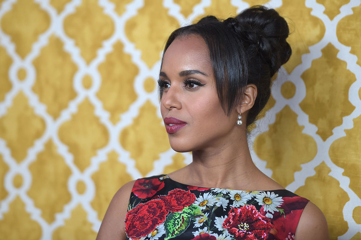 "Actress Kerry Washington attends the premiere of HBO Films' ""Confirmation"" at Paramount Theater on the Paramount Studios lot on March 31, 2016 in Hollywood, California."