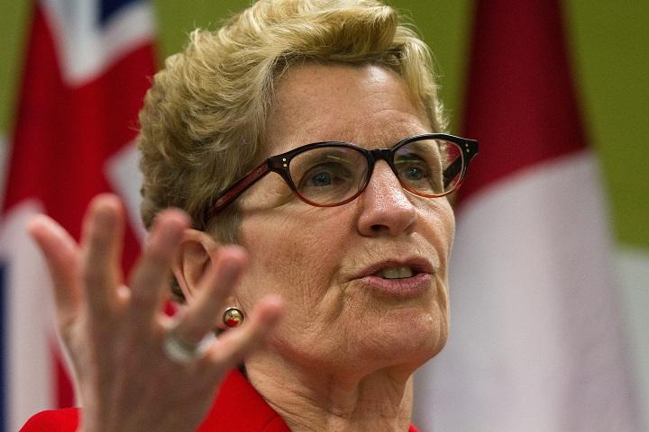 Ontario Premier Kathleen Wynne speaks in Kingston, Ont., on March 31, 2016.