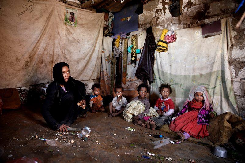 A family in Mideast Yemen.